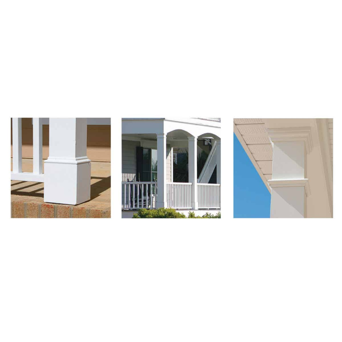 Crown Column DuraSnap 4 In. W x 4 In. H x 102 In. L White PVC Post Wrap Image 2