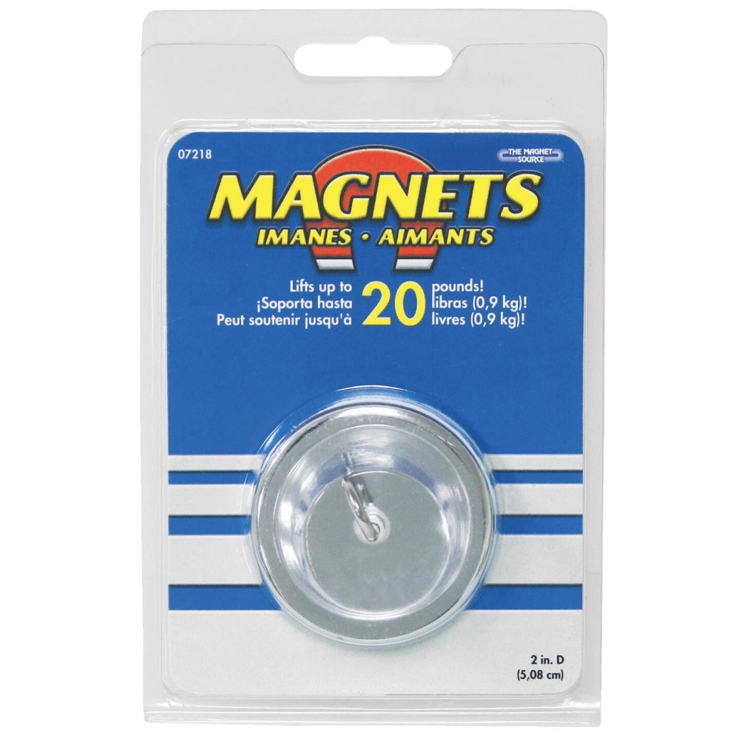Master Magnetics 20 Lb. Magnetic 2 in. Handi-Hook Image 3