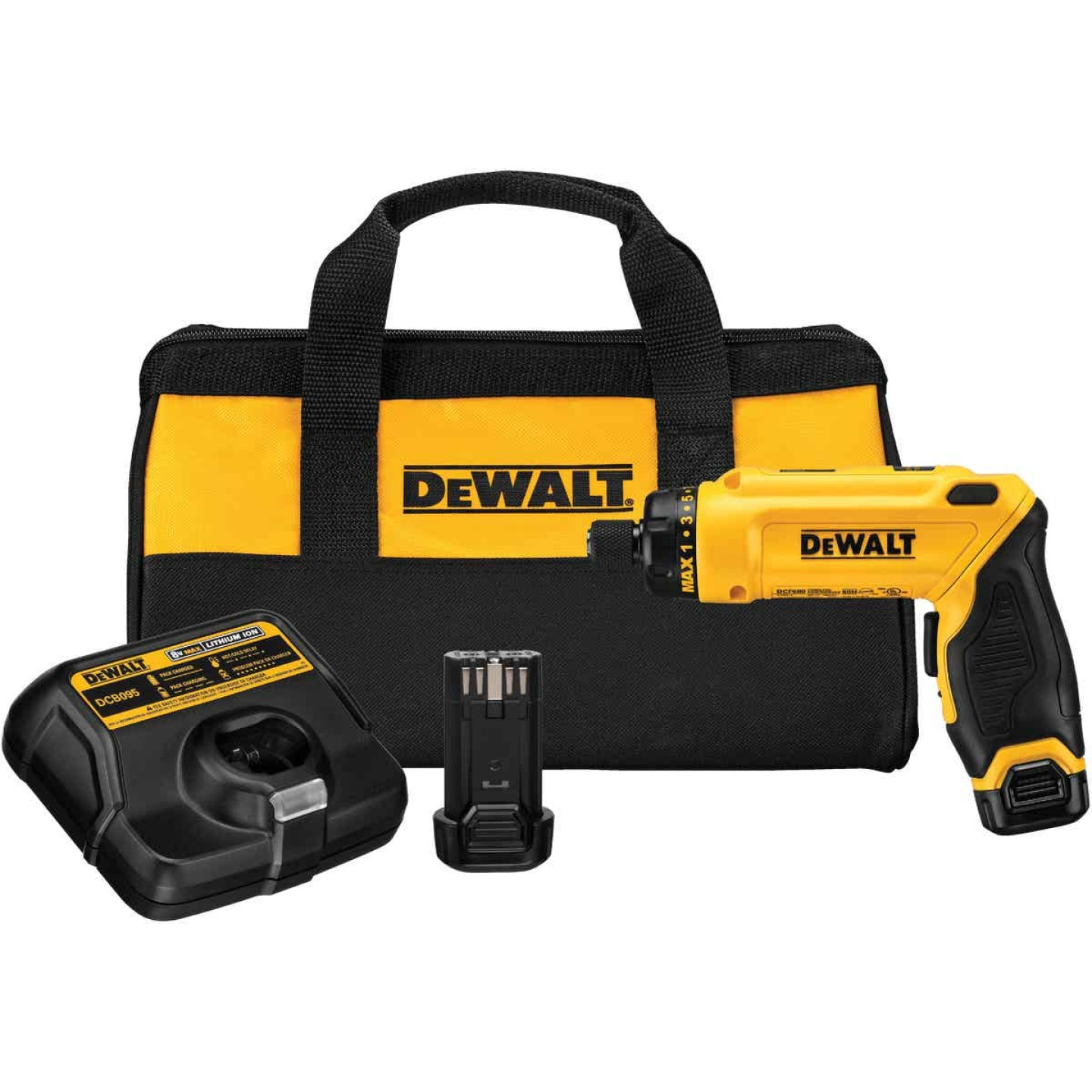 DeWalt 8-Volt MAX Lithium-Ion Gyroscopic 1/4 In. Cordless Screwdriver Kit (2-Battery) Image 1