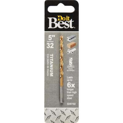 Do it Best 5/32 In. Titanium Drill Bit
