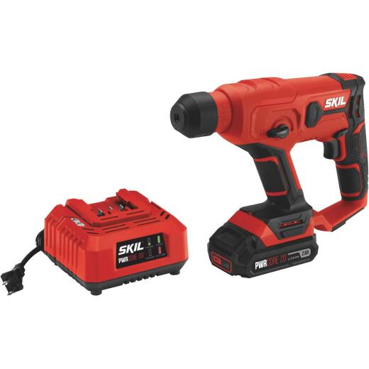 SKIL PWRCore 20 Volt Lithium-Ion SDS Plus Cordless Rotary Hammer Drill Kit