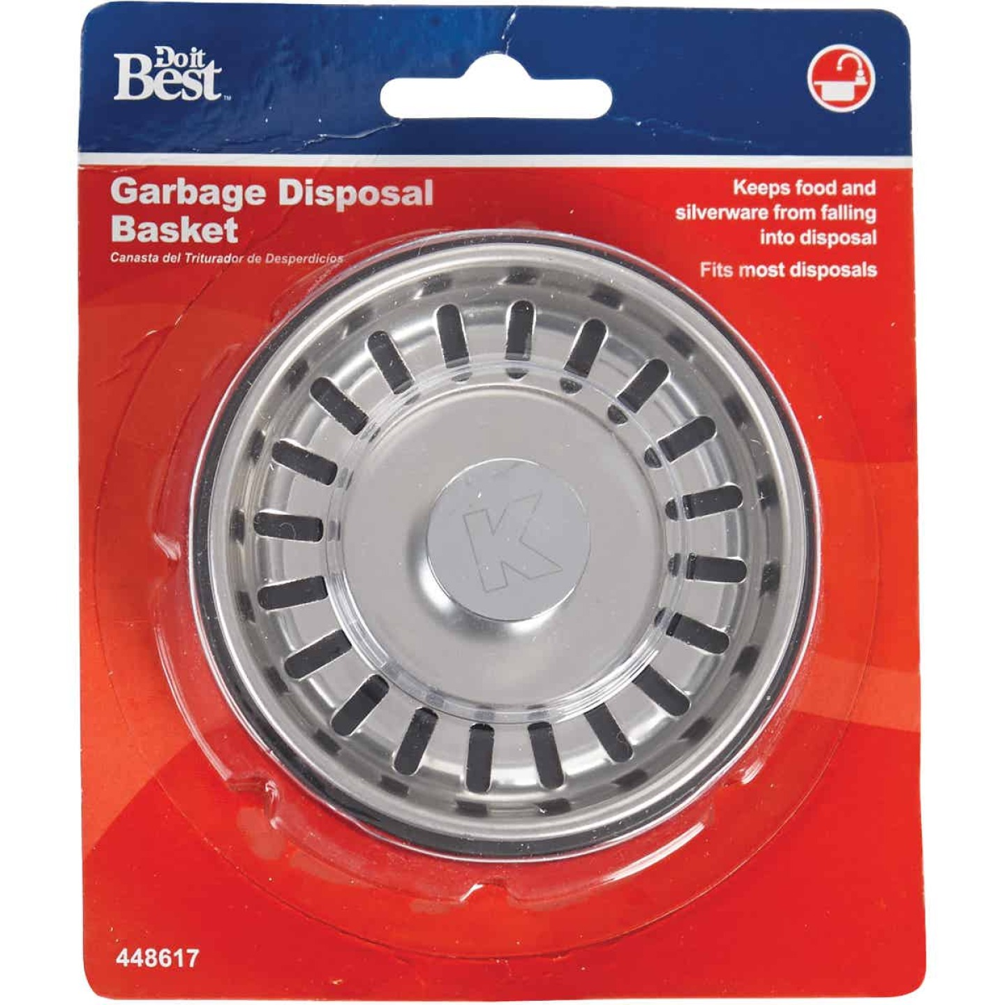 Do it Best 3.13 In. Dia Chrome-Plated Steel Disposer Strainer and Stopper Image 2