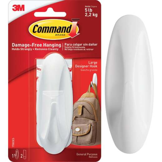 Command 1-1/2 In. x 4-1/8 In. Utility Designer Adhesive Hook