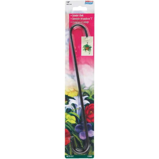 National 12 In. Black Steel Extender S-Hook