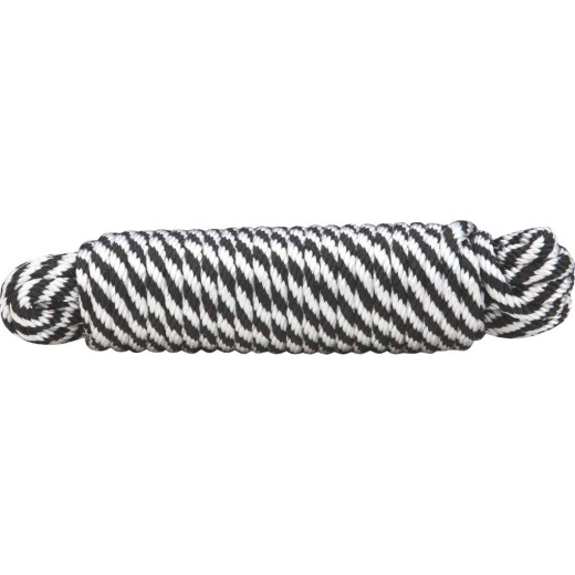 Do it 3/8 In. x 50 Ft. Black & White Derby Polypropylene Packaged Rope