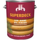 Duckback SUPERDECK Translucent Log Home Oil Finish, Autumn Brown, 1 Gal. Image 1