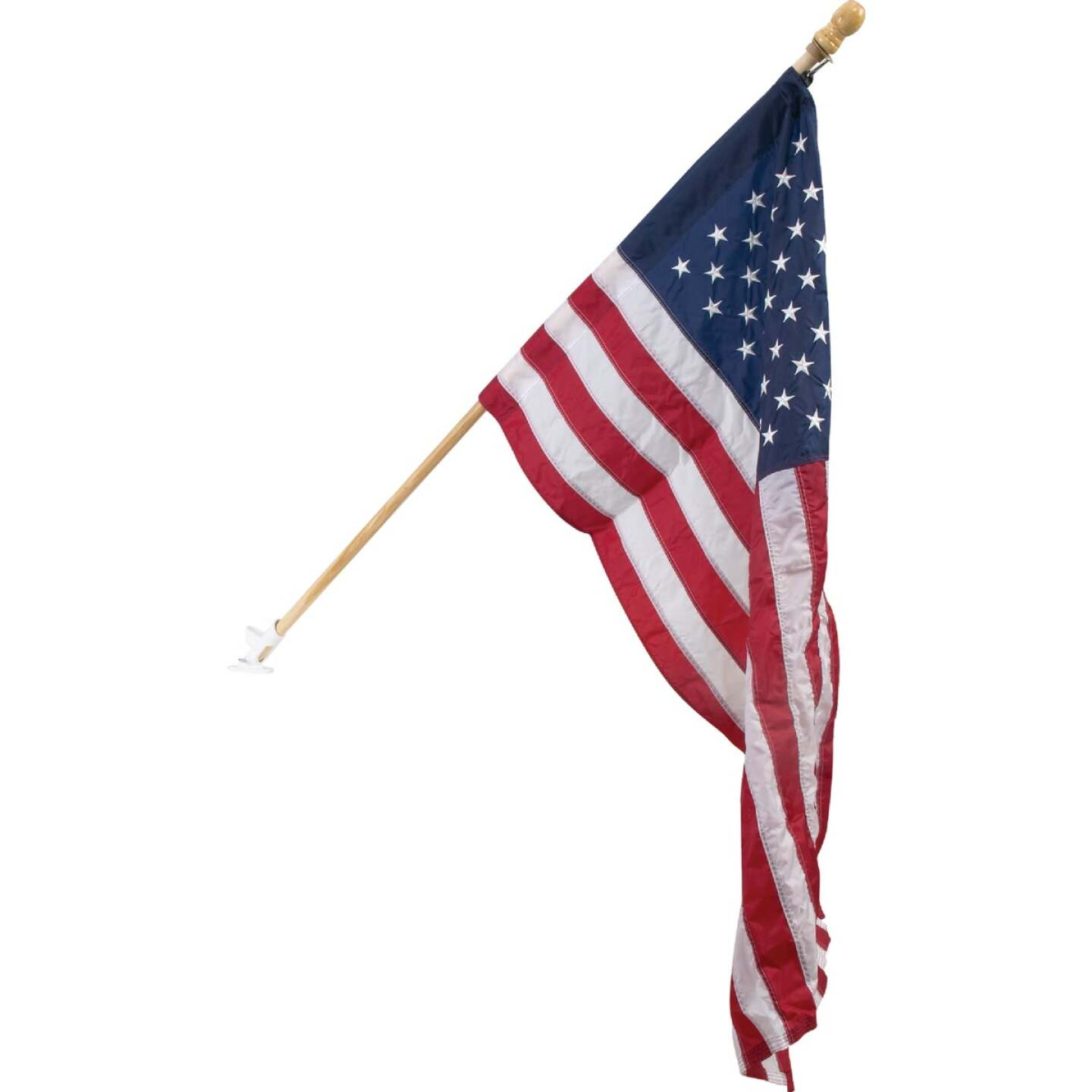 Valley Forge 2.5 Ft. x 4 Ft. Nylon American Flag & 5 Ft. Pole Kit Image 1